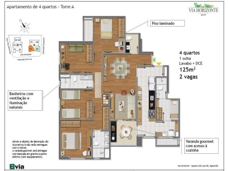 apartamento 4 quartos alphaville